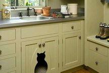 kitchen cupboard kitty litter
