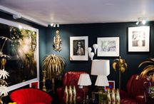Inside Eleven / An overview of the Eleven Fine Art gallery collection, featured with beautiful vintage collection of Ed Butcher's furniture.