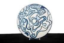 piatti in ceramica / Piatti in ceramica con decorazione originale fatti a mano,pezzi unici