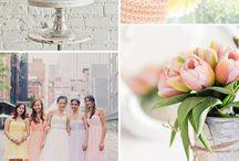 Pastel colour wedding