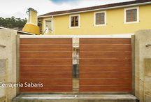 Puertas acero inoxidable / puertas de corredera y batiente  con marco en acero inoxidable