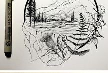 Art pen and ink