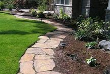 Garden Walkways & Paths - ideas / Instructions and examples of various types of garden walkways and pathways, along with the landscaping. / by Cecile Thomas