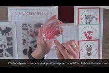 Stempelen voor beginners / Stempeltechnieken voor beginners stampin up  howto, waar mee moet, of kun je beginnen. Simpele stempel kaarten maken