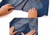 Jeans into skirts