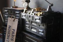 Industrial up cycled furniture