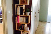 Bibliothèque caisse vin