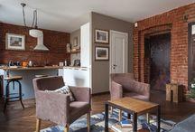 brick walls / brick wall interior design loft industrial decor decoration bedroom bathroom living room kitchen