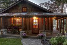 Vertical log homes