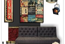 Movie and Home Theaters / Finds for your home theater, movie den or Hollywood themed interior decor.