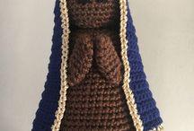 Immagine sacre a crochet amigurumi