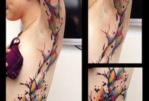 Art tree tattoo