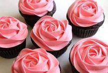 valentine cup cakes / Cup cakes voor valentijnsdag