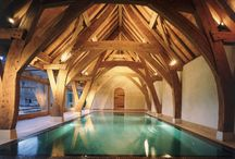Swimming pools / A selection of swimming pools set within beautiful oak framed homes