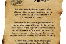 MasterMind Alliances / The term MasterMind is frequently used to indicate that there is a guru, master mind, who mentors or instructs others. The true MasterMind Alliance is based on the concept Napoleon Hill taught in his classic book, Think and Grow Rich