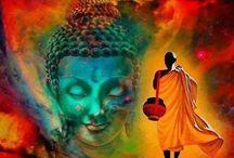 Budha met Afrikaanse krijger
