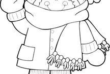 Zimní omalovánky