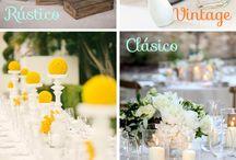 Diseño de Bodas / Ideas de decoración de eventos