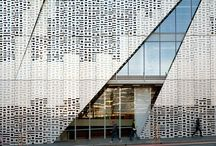INSPIRATION Architectural Lace / ARCHITECTURAL LACE  The geometrical grids of modern architecture inspire us. We love the way hard materials such as steel and glass can look soft and organic in the subtle play of light and shadow.
