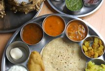 Indian Meals / Beautiful Arranged and displayed Indian dishes.