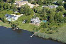 68 Cobb Lane, Water Mill NY / This 4,000 SF +/- exceptional waterfront getaway on Burnett Creek features expansive views as well as direct access to Mecox Bay in Water Mill south.   www.bespokerealestate.com