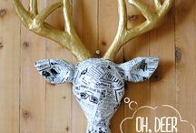 Crafty Inspiration / Crafts to make for the holidays and for fun and profit. / by Emily Spicer