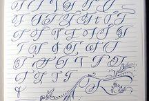 kaligrafia i inicjały