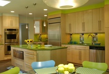 apple green & gray kitchen! / by Suzanne Tildsley