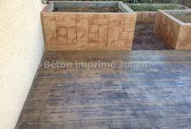 Beton imprime motif Bois / http://www.betonimprimejulien.fr/Bois.html