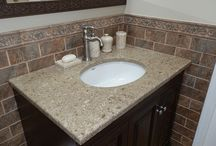 Earth Tone Tile Bath