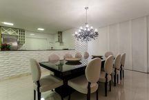 Salas / Projetos de salas executados por profissionais parceiros com produtos da Bel Lar Acabamentos.
