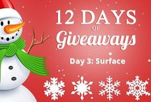 Worth Ave group giveaways / Worth Ave Group Day 3 is here and you could win a Surface! You must be a U.S resident and 18 or older to win. #worthavegroup #12daysofgiveaways please put those hastags on Twitter and Pinterest. Good Luck! http://www.worthavegroup.com/12-days-giveaways/ or http://tinyurl.com/kzsu9yq