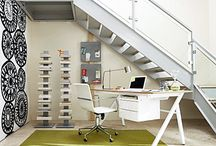 Under the stairs / Ways to use space under the stairs