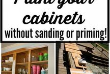 Painting kitchen cabinets- no sanding and priming