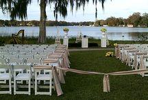 Albin Polasek Weddings / Orlando Harpist - Weddings at Albin Polasek Museum in Winter Park, Florida, a beautiful garden lakefront wedding location. #albinpolasekwedding #Orlando #harpist