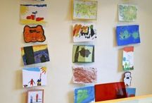 Kinderkunst | Kids art display