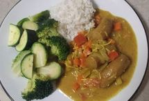 curried saucages