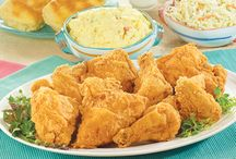 Chicken / Try all of our wonderful chicken dishes including our famous home made fried chicken:  Our golden spicy and traditional fried chicken are juicy and delicious on the inside, crispy on the outside. We start with fresh marinated chicken, then hand bread it in our own special seasonings.  Baked Chicken:  Our herb-seasoned baked chicken is full of flavor! We start with fresh chicken in a custom marinade. Then, we hand toss it in an herb seasoning. Moist and delicious!  / by Schnucks