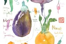 estampas de legumes
