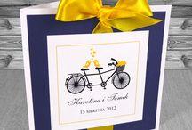 zaproszenia ślubne z rowerem / Zaproszenia ślubne z motywem roweru. http://www.kartkaodciebie.com.pl/zaproszenia_na_slub_z_rowerem.html