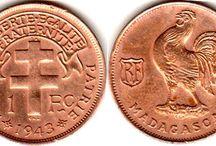 Монеты. Колонии Франции.