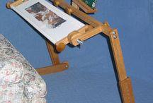 bastidor bordado y rug