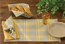 Pattern: Chamomile / Bring a ray of sunshine to any table setting with these beautiful Chamomile Coordinates from Park Designs. Enjoy the beautiful sunny palette of yellows shadowed with gray suitable for any decor. / by Piper Classics