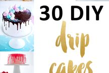 Drip Cakes / Drip cakes, which are extremely popular right now and easier to do than you think. Check out these 12 designs and inspiration for your portfolio or gallery - http://angelfoods.net/12-drip-cake-design-ideas/