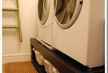 Inspiration for laundry room / Ideas for a functional/pretty laundry area.