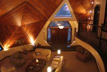 Geodesic Domes - Interiors / Random interior inspiration for geodesic domes.