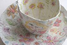Teacups and coffeecups, craft