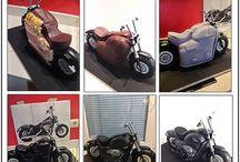 Motor bike cakes