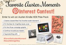 My Favorite Austen Moments / Contest (Jane Austen) Jane Austen (1775-1817) was an English writer who wrote many classic romantic fictions, with her most famous novels being Sense and Sensibility and Pride and Prejudice. It was not until well after Austen's death that she gained fame for her writing and she is now considered one of English literature's greatest writers.