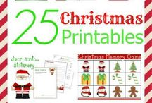 Christmas Family Games Ideas and Printables / A variety of games to play with the family over the festive Christmas season.